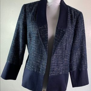 Adrianna Papell Navy Blue Evening Blazer NWT